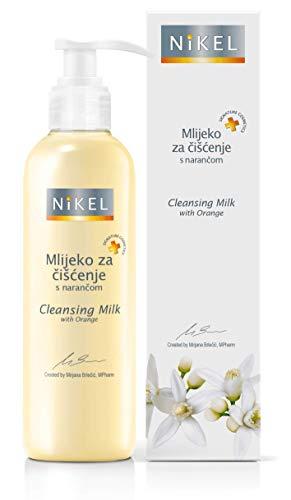 NIKEL Lait de nettoyage avec orange Le lait de nettoyage avec orange rend votre peau veloutée. Élimine le maquillage et les impuretés et ne doit pas être lavé (200 ml)