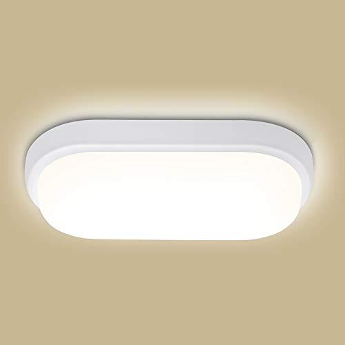 LED Deckenleuchte Badlampe, Oeegoo 18W LED Feuchtraumleuchte, IP54 Wasserfest Deckenlampe, Flimmerfreie Led Wandleuchte für Treppenhaus, Keller, Diele, Flur, Balkon, Werkstatt, 4000K