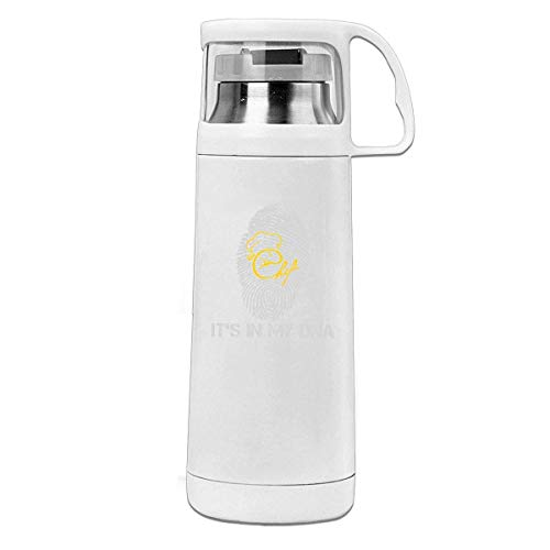 Bestqe Termo,Botella de agua,Tazas térmicas Chef In My DNA 11.8oz Travel Vacuum Insulated Water Bottle Cover Cup Stainless Steel Thermos Cup