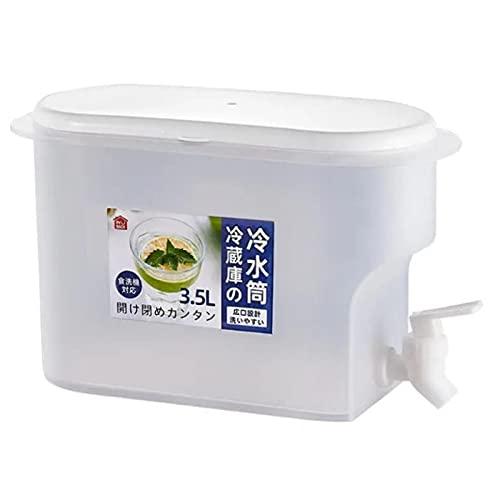 Cyhamse Dispensador de bebidas de 3,5 L con grifo – Dispensador de agua de limonada con tapa (3,5 litros)