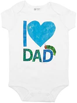 Out of Print World of Eric Carle The Very Hungry Caterpillar I Love Dad Baby Bodysuit 12 Months product image