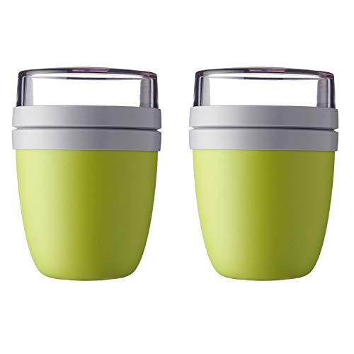 Mepal 'Ellipse' Lunchpot to go 500 ml & 200 ml, Farbe & Stückzahl:Latin Lime (2 Stück)