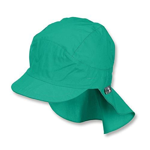 Sterntaler Schirmmütze für Jungen mit Nackenschutz, Alter: 2-4 Jahre, Größe: 53, Grün (Pfefferminz)