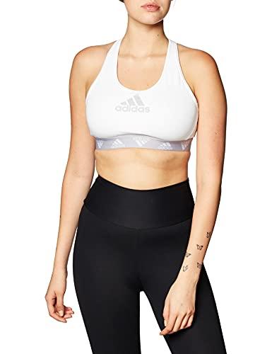 adidas Damen Damen Sport-BH Don't Rest Alphaskin Sport-BH, White/Glogry, L, GC8175
