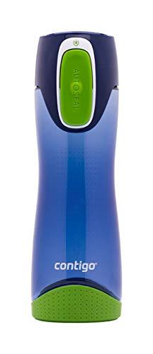 Contigo Trinkflasche Swish Autoseal, große BPA-freie Kunststoff Wasserflasche, auslaufsicher, für Sport, Fahrrad, Joggen, Wandern, 500 ml, Cobalt