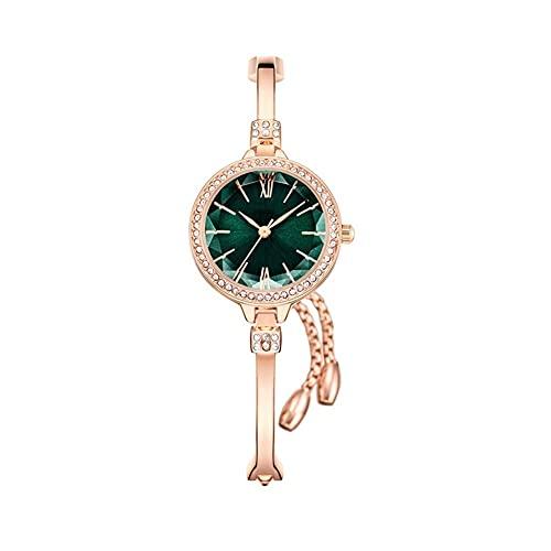 WYH Reloj de Pulsera Reloj Femenino Hermosa Decoración Señoras con Estilo Cuarzo Movimiento Mujer Reloj Femenino Reloj De Pulsera Analógica Elegante Ultra Fino (Color : Green)