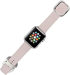 Genuine Leather Band Strap with Ozone Screen Protector for Apple Watch 38mm - Pink