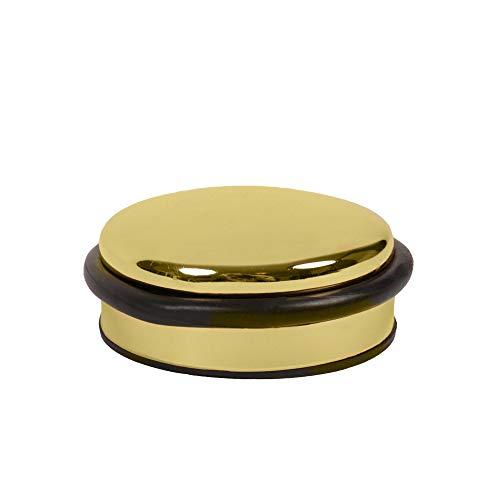 Türstopper Türpuffer Bodentürstopper massiv Metall - ø 91 mm - diverse Ausführungen (Messingoptik)