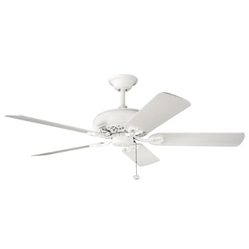 Kichler  300118SNW Bentzen 52IN Energy Star Ceiling Fan, Satin Natural White Finish with Satin Natural White Blades