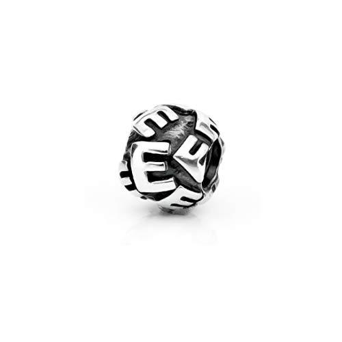 Akki Murano Glasperlen chrams Glas Beads verschidenen Farben Bead Element Solid aus Muranoglas auch passend kompatibel mit Pandora Kette und Armbänder - E