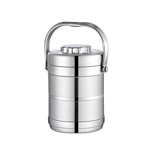 XGzhsa Fiambrera térmica, recipiente para alimentos aislado al vacío, recipiente térmico para alimentos con aislamiento de doble capa de acero inoxidable de 1,4 l para alimentos calientes/fríos