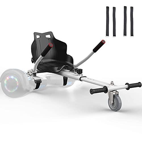 """K IKIDO Go Kart Hoverkart per Hoverboard 6.5"""" 8"""" 8.5"""" 10"""" Overboard Monopattino Elettrico Overkart Accessori di Scooter (Bianco)"""