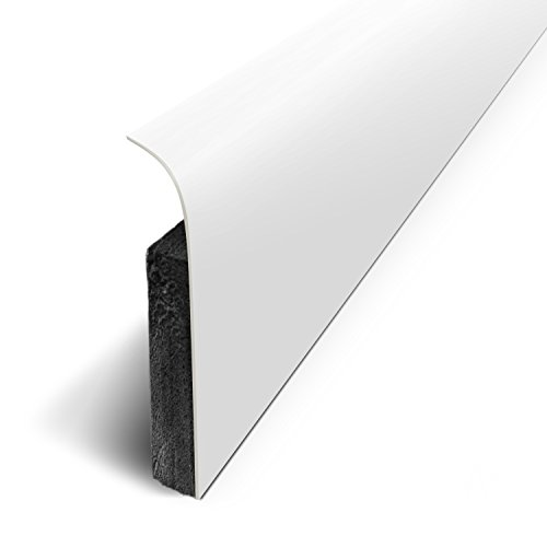 3M - Plinthes Adhésives (lot de 5) - Blanc Mat - Long.120 cm x Haut.7 cm x Ep. 1.1cm (Ref: D180532D)