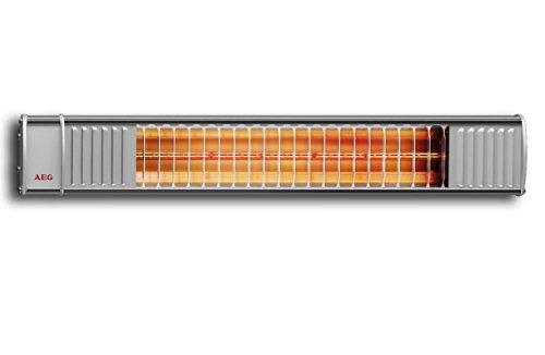 AEG Infrarot-Heizstrahler IR Premium 2000 H mit Hirschmannstecker, 2000 W, hocheffiziente Qualitäts-Goldröhre, nicht-rostend  für Terrasse, Garten Balkon, Gastronomie, 229946