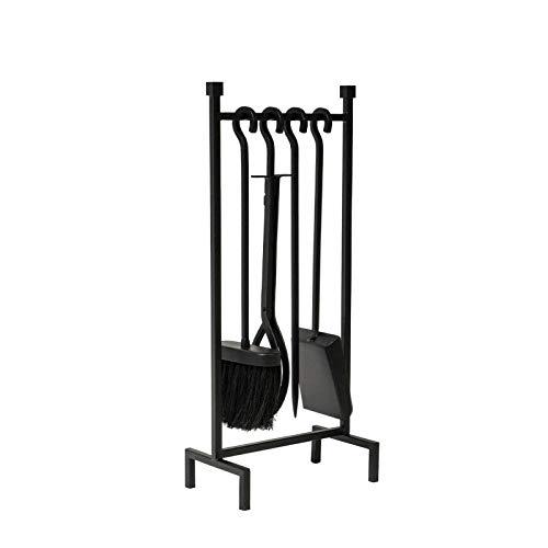 HGFR Kamin-Werkzeugset , Loop Companion Set 5-teiliges traditionelles Kamin-Holzofen-Kohleofen-Zubehörset - Gusseisen