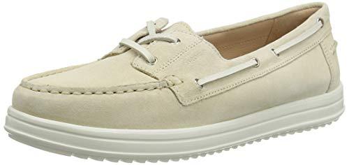 Geox D Genova MOC A, Mocassins (Loafers) Femme, Beige (Sand C5004), 36 EU