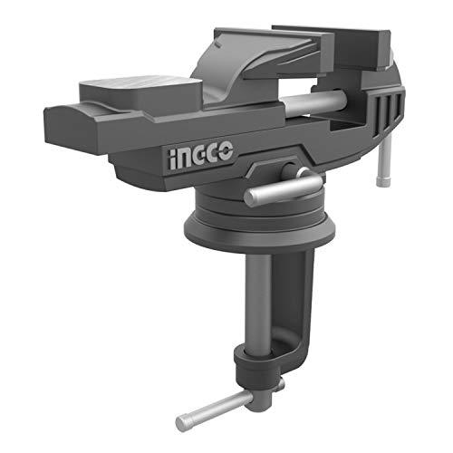 Ingco Hbv082 Morsa Da Banco Girevole Larghezza 60 Mm Forza Max Serraggio 1000 Kg
