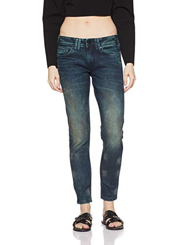 Pepe Jeans Women's Slim Jeans (PL203281G98_Blue_32)