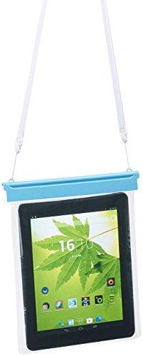 """Somikon Tablet Tasche: wasserdichte Universal-Hülle für iPads & Tablet-PCs bis 25,4 cm / 10\"""" (wasserdichte Dokumententasche)"""