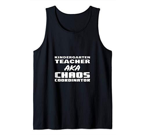 Maestra De Kindergarten AKA Coordinadora Del Caos Regreso A Camiseta sin Mangas