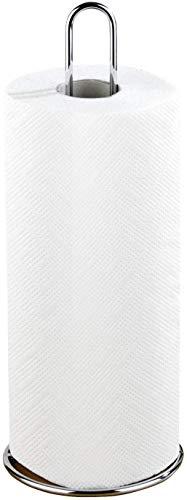 Wenko Küchenrollenhalter, Ø 12 x 32 cm, silber glänzend