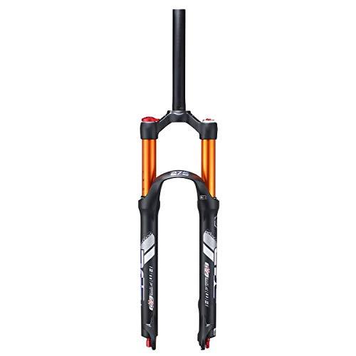 VHHV Bicicleta Horquilla Suspensión 26' 27.5' MTB Bike Horquillas Delantera Accesorios 28.6mm, Bloqueo Manual Aleación Amortiguación Ajustable (Color : A, Size : 26 Inches)