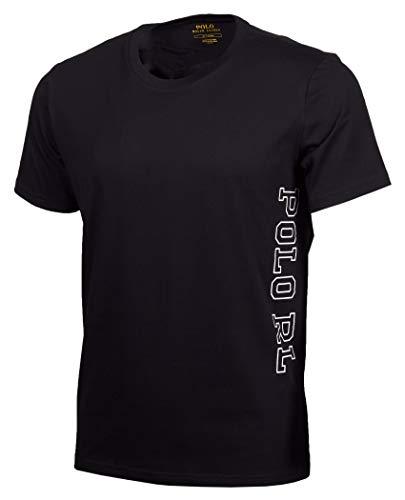 Ralph Lauren - T-Shirt Manches Courtes Homme avec Lettres latérales Polo RL Couleur Noir 714730607007 - Noir, XL