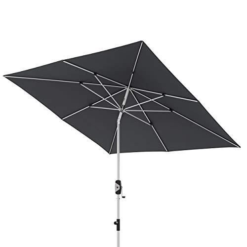 Knirps Sonnenschirm Automatic – Quadratischer Kurbelschirm – Modernes Design – Starker UV-Schutz – 240x240 cm – Bordeaux