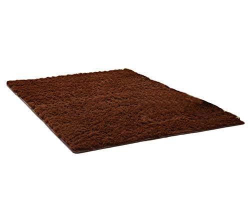 Hochflor Teppich | Shaggy Teppich fürs Wohnzimmer, Schlafzimmer, Esszimmer,Carpet Kaffee 80 * 160CM