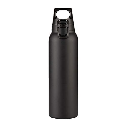 Mokfles Grote capaciteit multifunctionele Portable thermosfles, Adult Sport Outdoor Coffee Kop van de reis, zonder BPA Thermos (500 ml) Volwassenen (Color : Black, Size : 26.8x6.8cm)
