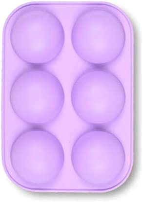 6 Holes Semi Sphere Silicone Mold Baking Mold for Making Hot Chocolate Bomb Cake Jelly Dome product image
