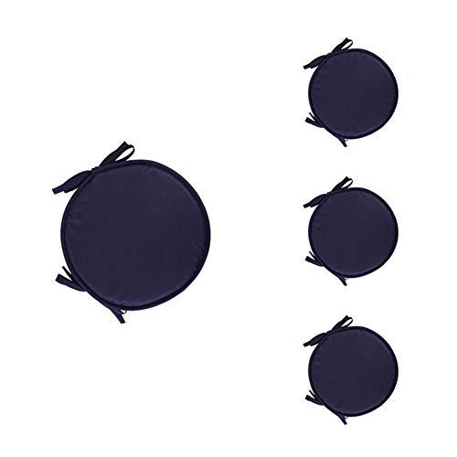 Demarkt Round Floor Cushion Cover Seat Cushion Covers Back Cushion, dark blue, 30 cm