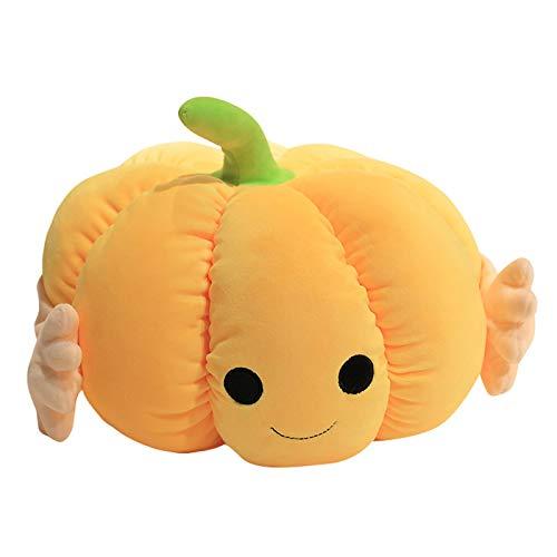 ZQH Halloween Plüsch Stofftier, Daunen Baumwolle Polsterung Kürbis Kissen Dekorative Weiche Flauschige Kissen für...