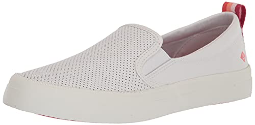 Sperry Women's Crest Twin Gore Sneaker, White/Pink, Numeric_5_Point_5