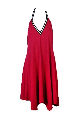 Cynthia Rowley Handkerchief-Hem Halter Dress (Pink, Small)