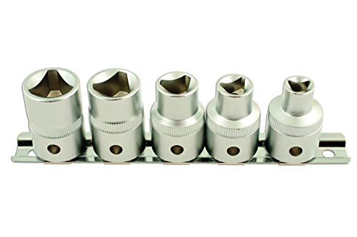 Laser 5683Dreikant-Steckschlüssel Set, 1,3 cm Durchmesser, 5-teiliges Set