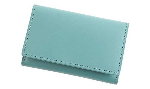 [lemma] レンマ 名刺入れ 名刺ケース カードケース 大容量 日本製 牛革 メンズ 化粧箱付 ターコイズ