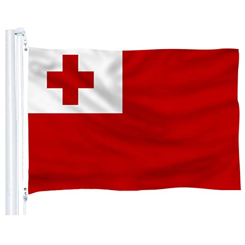 DFLIVE Tonga Flag 3x5 Ft Thicker Polyester The Tongan National Banner with Brass Grommets