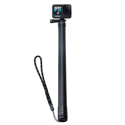 """AuyKoo 118"""" Langer Verbesserter Carbon Selfie Stick für GoPro, Ausziehbarer Haltegriff einstellbares Pol-Einbeinstativ für GoPro Hero 9/8/7/6/5 Black Insta 360 ONE R 4K und andere Action-Kamera"""