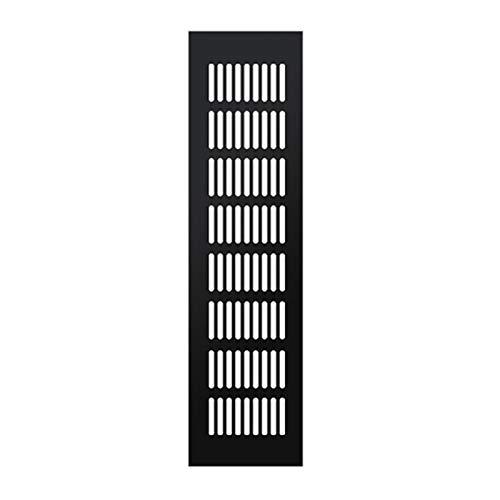 Rejillas De Ventilación, Aleación De Aluminio Malla Transpirable Gabinete Negro Cubierta De Aire Rejilla De Ventilación Del Gabinete De Zapatos Rejilla De Enfriamiento De Escape (incluye 4 Tornillos)