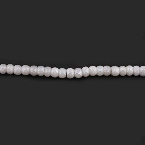 LKBEADS Big Halloween Columbus Mall Sale 1 Faceted Silverite Special sale item Rond Strand White
