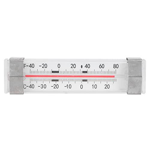 Termómetro para congelador, mini termómetro para refrigerador, medidor de temperatura de vidrio tipo escala cerrada para cocina casera