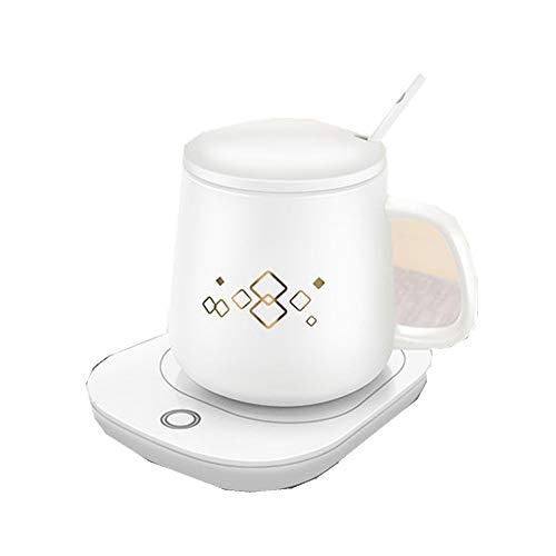 JINBAO Heating Coaster, Desktop Automatic Heater for Coffee, Milk, Tea, 55 Degree Constant Temperature, is The Best Gift Heater for Office and Home use