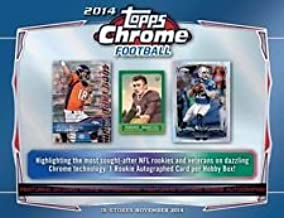 2014 Topps Chrome Football Cards Hobby Box (24 Packs/Box, 1 Rookie Autograph) - Possible Rookie Autographs of Johnny Manziel, Blake Bortles, Teddy Bridgewater, Sammy Watkins and more - IN STOCK !!
