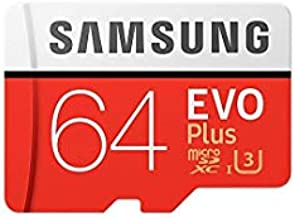Samsung Evo Plus 64GB MicroSD XC Class 10 UHS-1 Mobile Memory Card for Samsung Galaxy J3 J1 Nxt Ace A9 A7 A5 A3 Tab A 7.0 E 8.0 View On7 On5 Z3