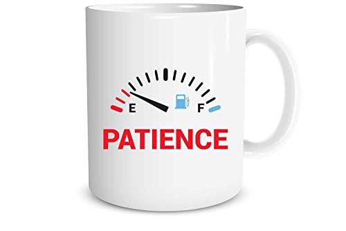 N\A Paciencia - medidor de Nivel Divertido de la Paciencia sarcástica - Regalo de Humor de la mordaza - Taza de café de la Novedad