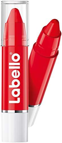 Labello Lips2Kiss Color Lip Balm Poppy Red, Lippenpflege mit intensiver Farbe, Lippenstift mit echter Labello Pflege, rot, 3g