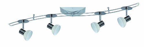 Preisvergleich Produktbild Paulmann Leuchten Rail System Sheela S 150,  4 x 35W,  GU5, 3 230 / 12V,  150VA,  Metall / Glas,  schwarz / chrom / opal 97522