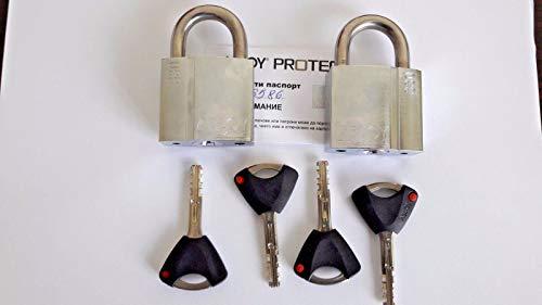 2x gleichschliessend Vorhängeschlösser Abloy pl330N Protec.. Hohe Sicherheit, 25 mm shackle, 2