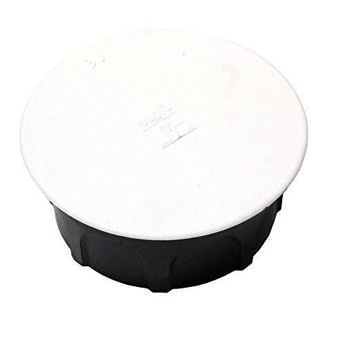 Tapa de caja de registro redonda de diametro 80mm Blanco
